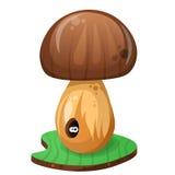 Illustration de ver de champignon et de bande dessinée Image libre de droits
