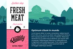 Illustration de viande de vecteur photos stock