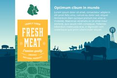 Illustration de viande de vecteur images libres de droits