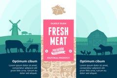 Illustration de viande de vecteur photo stock