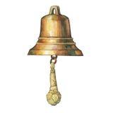 Illustration de vieille cloche du ` s de bateau illustration libre de droits