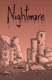 Illustration de ville d'apocalypse illustration de vecteur