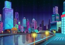 Illustration de ville de nuit illustration de vecteur