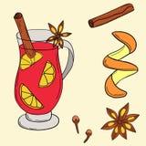 Illustration de vin chaud de vecteur illustration libre de droits