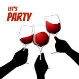 Illustration de vin rouge de vecteur Image stock