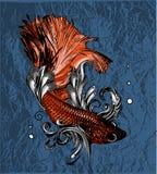 Illustration de vintage de vecteur de peu de poissons de voile illustration de vecteur