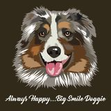 Illustration de visage de chien illustration libre de droits