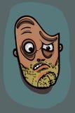 Illustration de visage d'homme Photos libres de droits