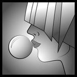 Illustration de visage de bulle Photos stock