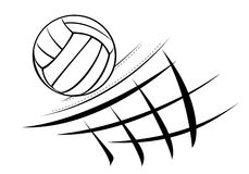 Illustration de volleyball Photographie stock