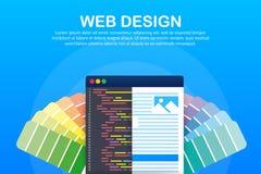 illustration de web design Concept de cr?er des sites Web, des banni?res con?ues pour l'ui, la conception d'ux et la conception w illustration stock