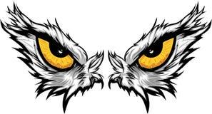 Illustration de yeux d'aigle illustration de vecteur