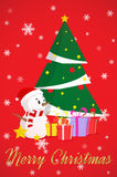 Illustration of decorated Christmas tree Royalty Free Stock Photo
