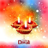 Illustration of decorated diya for Happy Diwali holiday background stock illustration