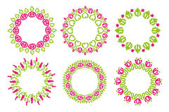 Illustration for decorations. Frame floral nature doodle flower Stock Photography