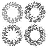 Illustration for decorations. Frame floral nature doodle flower Stock Photo
