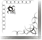 Illustration decorative. Decorative illustration calligraphy element frame Royalty Free Stock Photography