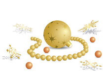 Illustration with decorative ball and pearls - eps Royalty Free Stock Image