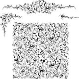 Illustration of decorative frames and patterns Stock Photo