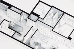 Illustration of deep elegant floor plan design apartment Royalty Free Stock Image