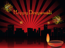 Illustration for deepavali celebration Stock Photography