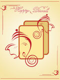 Illustration for deepavali celebration. Beautiful illustration for happy deepavali Stock Image