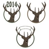 Illustration of deer symbol of New Year. Vector illustration of a deer symbol of the new year Stock Images