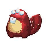 Illustration: Den fantastiska Forest Red Skin Tree Monster som isoleras på vit bakgrund Arkivbild