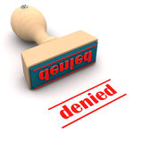 Denied rubber stamp. An illustration of a denied rubber stamp Stock Images