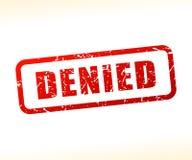 Denied text stamp. Illustration of denied text stamp Stock Image