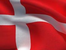 Denmark flag on a fabric basis. Illustration of a Denmark flag on a fabric basis Royalty Free Stock Image