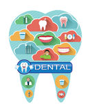 Illustration of dental icons set Stock Images