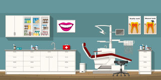 Illustration of a dentist room Stock Images