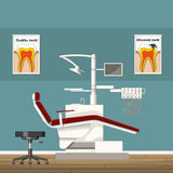 Illustration of a dentist room. Illustration of a modern dentist room Stock Photography