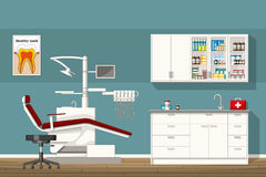 Illustration of a dentist room. Illustration of a modern dentist room Royalty Free Stock Images