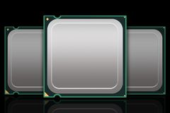 Multiple Generic CPU Chips - Blank Stock Photography
