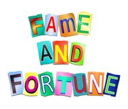 Fame and fortune concept. Stock Image