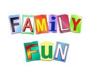 Family fun concept. Stock Photo