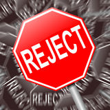 Reject concept. Royalty Free Stock Photo
