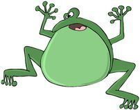 Green frog. This illustration depicts a green frog jumping Royalty Free Stock Image