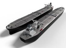 Illustration der Öltanker nebeneinander stock abbildung
