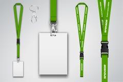 Illustration der Abzugsleine für Kongreß, Partei oder Ereignis Greifen Sie auf hängende Identifizierung zu Stock Abbildung