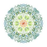 Illustration der Aquarellmandala Stockfotos