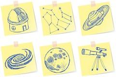 Astronomie- und Observatoriumskizzen lizenzfreie abbildung
