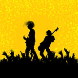 Illustration der Band der Musikerausführung Lizenzfreie Stockfotografie