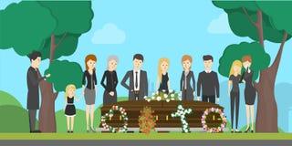 Illustration der Begräbnis- Zeremonie stock abbildung
