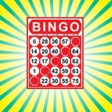 Illustration der Bingokarte lizenzfreies stockfoto