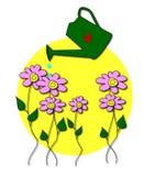 Die Blumen im Garten Lizenzfreies Stockfoto