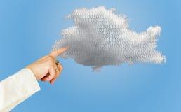 Illustration der Datenverarbeitungswebservicearchitektur der Wolke Stockbild