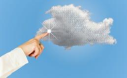 Illustration der Datenverarbeitungswebservicearchitektur der Wolke Stockbilder